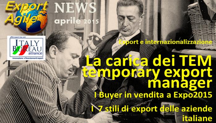 Newsletter Export agile di Aprile 2015