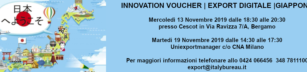 INNOVATION VOUCHER | EXPORT DIGITALE |GIAPPONE