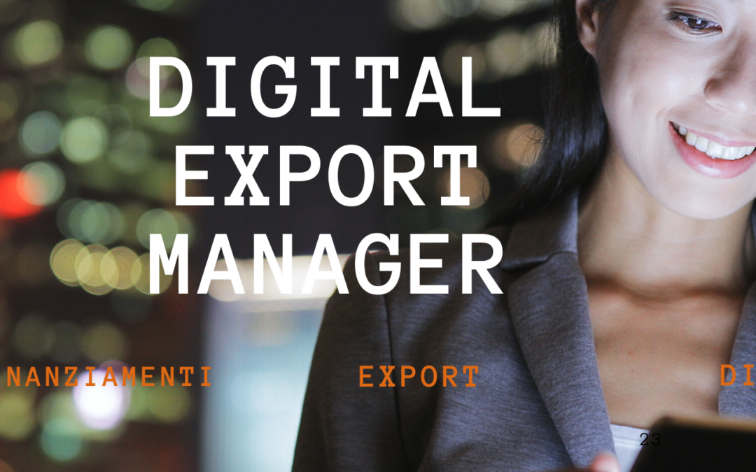 Digital Export Manager: Export +Digitale +Finanziato